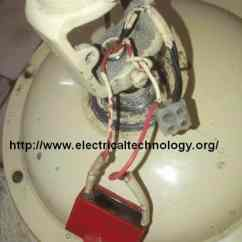 On Off Switch Wiring Diagram Adventureworks Database How To Connect & Install A Capacitor With Ceiling Fan - Electrical Technology