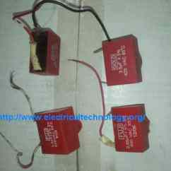 2 Switch Wiring Diagram Ceiling Fan 3 Phase Star Delta Control How To Connect & Install A Capacitor With - Electrical Technology