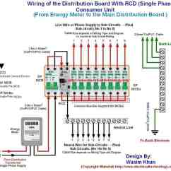 3 Phase To Single Wiring Diagram Kia Picanto 2005 Radio Of The Distribution Board With Rcd