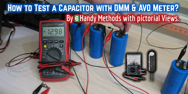 How To Test A Capacitor By Digital Analog Multimeter 6