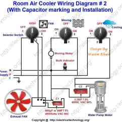 Psc Motor Wiring Diagram 2 Gang Way Switch Uk Room Air Cooler # 2. (with Capacitor Marking And Installation) - Electrical ...