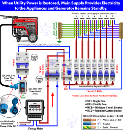 wiring of portable generator to home supply with separate mcb [ 1019 x 1029 Pixel ]