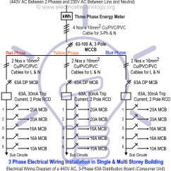 Electrical Wiring Diagrams For Dummies Banshee Headlight Diagram Three Phase Installation In A Multi Story Building Of Single Consumer Unit With Rcd