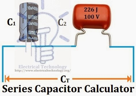 Series Capacitor Calculator Capacitance Of Capacitors In