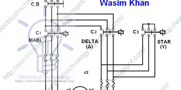 Star delta motor winding diagram automotivegarage three phase motor connection star delta without timer power ccuart Image collections