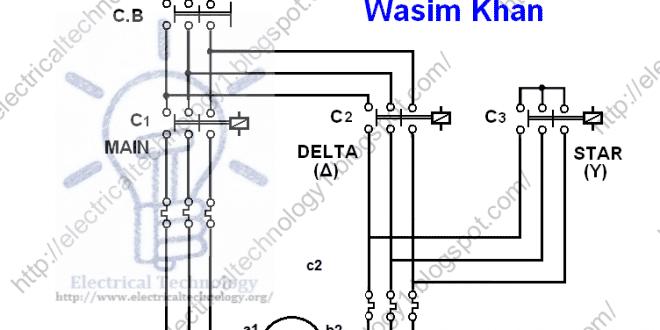 wye delta starter wiring diagram subwoofer for 6 subs three phase motor connection star/delta without timer power & control diagrams | electrical ...
