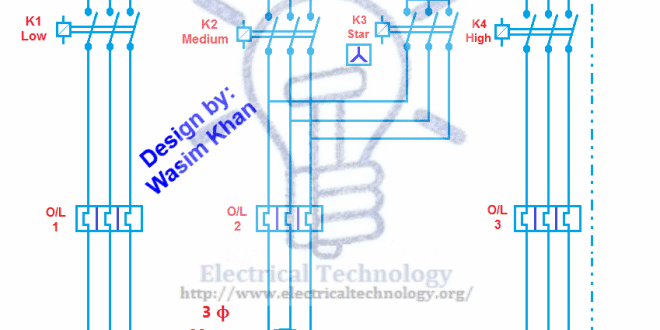 3 phase ups wiring diagram circuit 1998 ford expedition fuse panel multi speed 3-phase motor, speeds, 1 direction, power & control diagrams - electrical technology