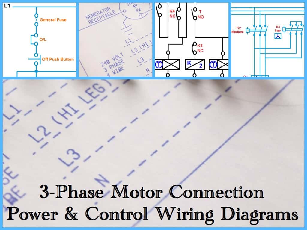 3 wire electrical wiring diagram 1996 jaguar xj6 three phase motor power and control diagrams