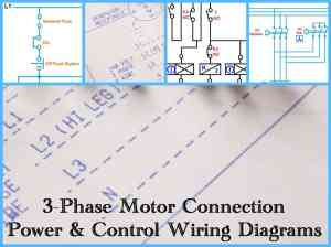 Three Phase Motor Power & Control Wiring Diagrams