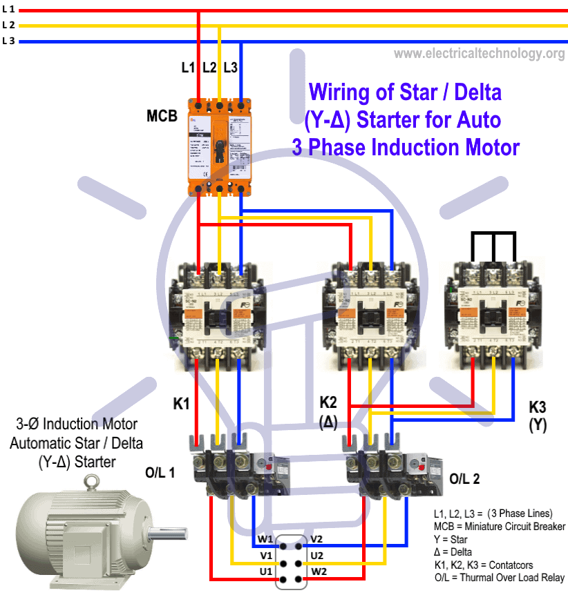Single Phase Submersible Motor Connection Diagram