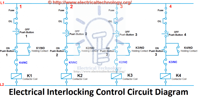 electrical mcb wiring diagram nutone heater fan light what is interlocking - power & control diagrams