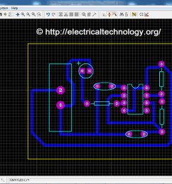 how to design a pcb step by step pictorial view led flasher circuit [ 1366 x 730 Pixel ]