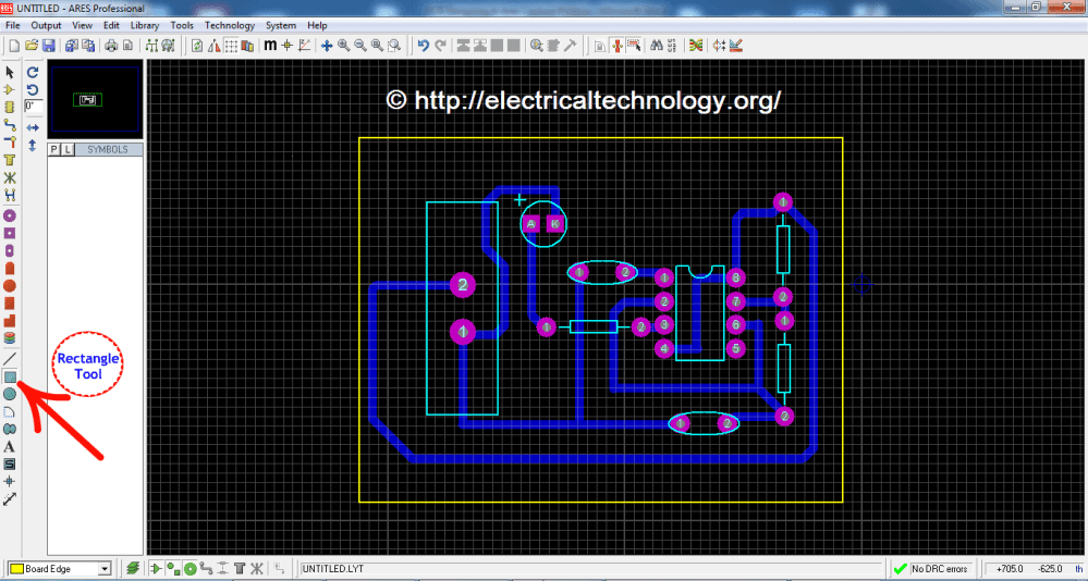 medium resolution of how to design a pcb step by step pictorial view led flasher circuit