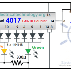 Basic Wiring Diagrams For Lights Reading Traffic Light Control Electronic Project Using 4017 & 555 Timer