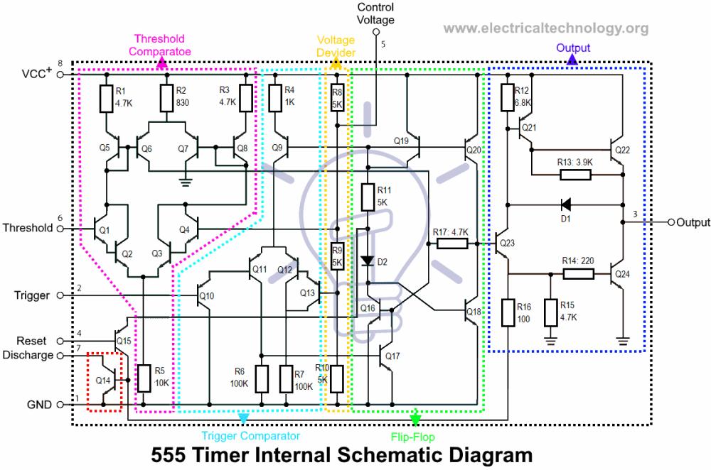 medium resolution of 555 timer internal schematic diagram