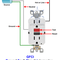 Gfci Wiring Diagrams Diagram For Ac Thermostat Ground Fault Circuit Interrupter Types And Working