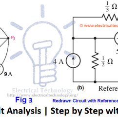 How To Solve Circuit Diagrams Vehicle Charging System Wiring Diagram Supernode Analysis Step By With Solved Example Of