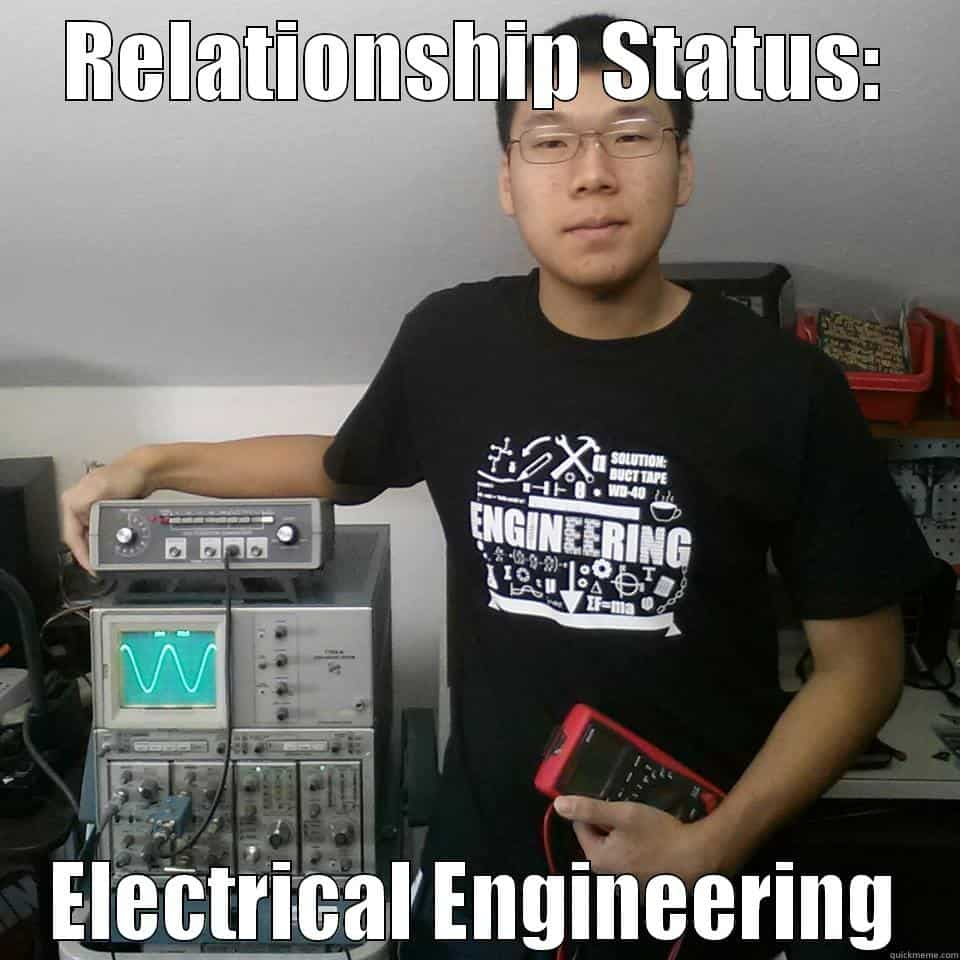hight resolution of funny electrical engineering student relationship status