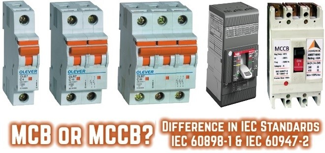 1000v Motor Wiring Diagram Difference Between Mcb Amp Mccb According To Iec Standards