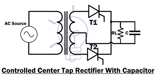 Controlled Center Tap Rectifier With Capacitor