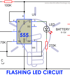 circuit diagram of flashing led lamp using 555 timer ic [ 999 x 905 Pixel ]