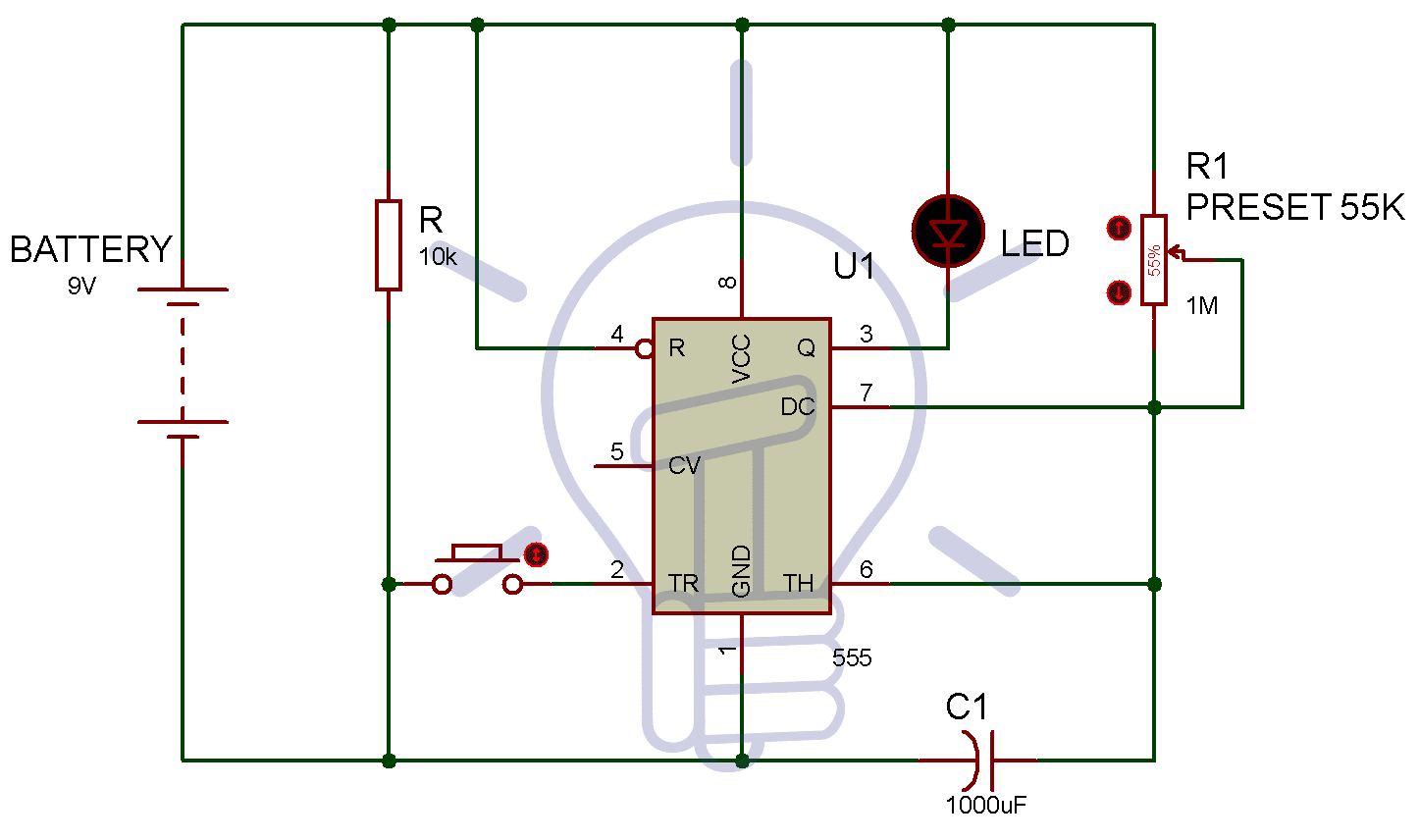 timer circuit diagram circuit diagram using 555 timer  segment counter circuit with an led