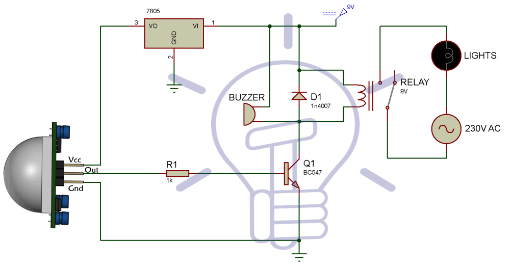 medium resolution of infrared motion detector circuit diagram