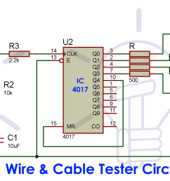 cable and wire tester circuit diagram multi electronic tester cable wiring project diagram [ 2001 x 819 Pixel ]