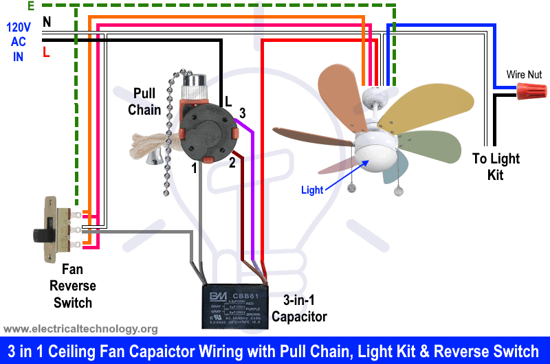 Fan Start Capacitor Wiring