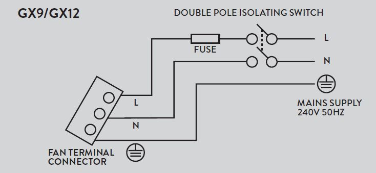 wiring xpelair fan