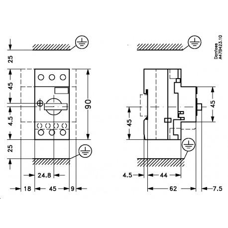 047B3148 DANFOSS CONTROLES INDUSTRIALES Circuit breaker El..