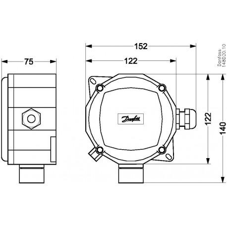 148H5072 DANFOSS REFRIGERATION Gas detecting sensor Electr..