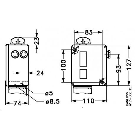 017-513366 DANFOSS REFRIGERATION Pressure switch Electric