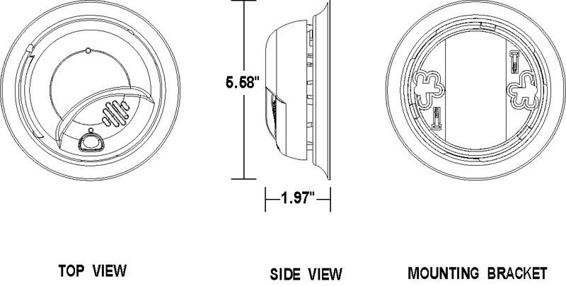 BRK Electronics First Alert 9120B-48B 120V AC/DC Hardwired