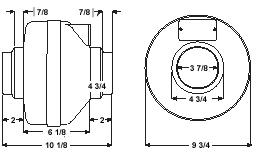 Fantech HP190 Inline Radon Fan 157 CFM, 4 or 5 inch Round Duct