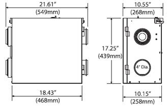 Fantech SH704 Heat Recovery Ventilator with Fan Shut Down