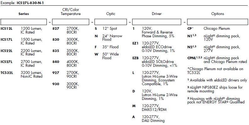 Juno Aculux Recessed Lighting IC512L-835-N-EZ1 4 inch LED