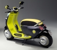 Electric futuristic Vespa