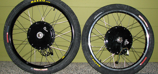 9C Front and Rear Disc mated to rims
