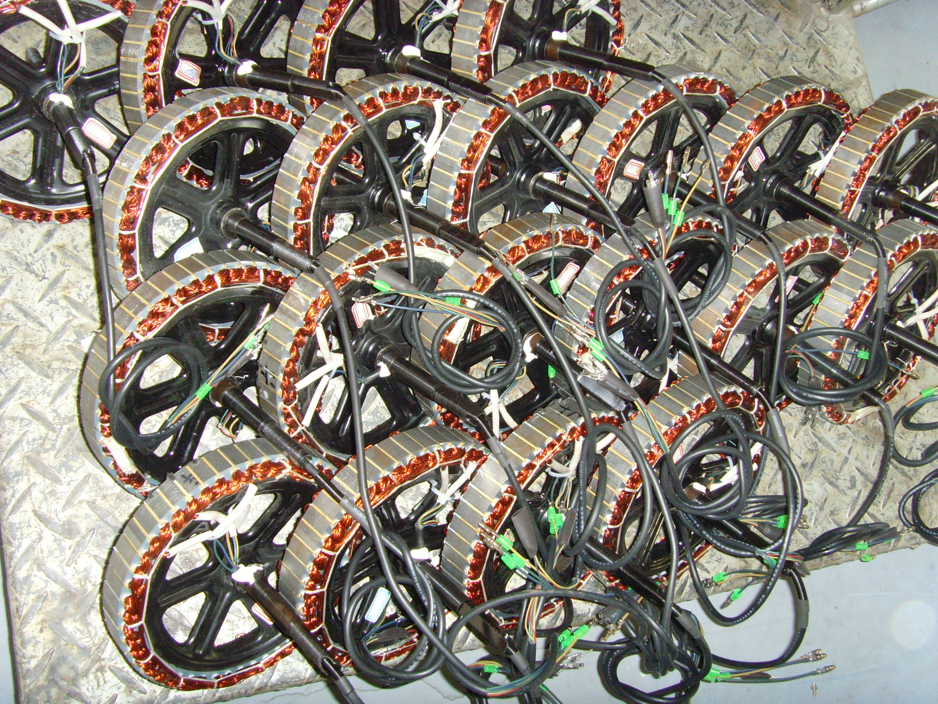 E bike hub motor factory tour in china electricbike com for How to make an electric bike with a starter motor