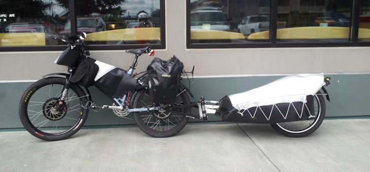 kingfish ebike and trailer