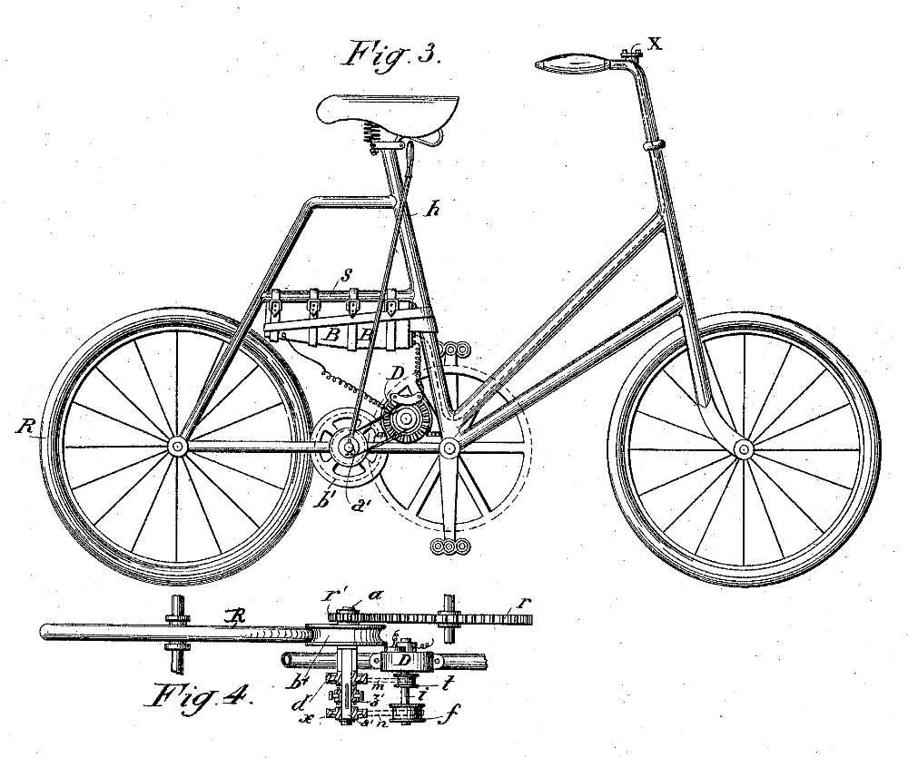 Electric Bike History, patents from the 1800's Patent10