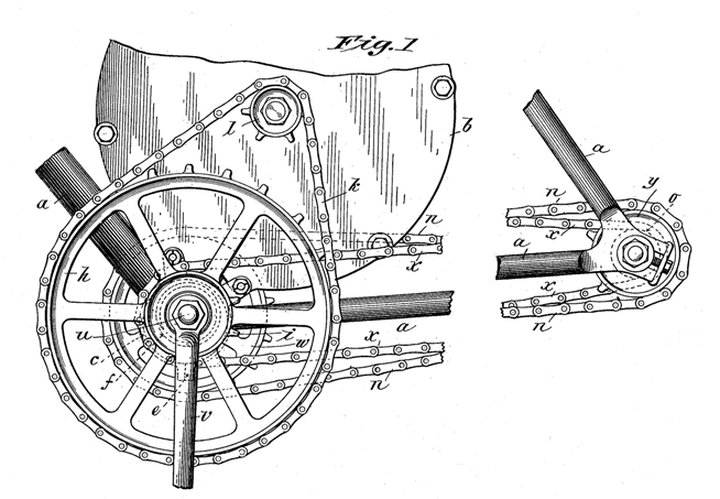 Electric Bike History, patents from the 1800's Patent22