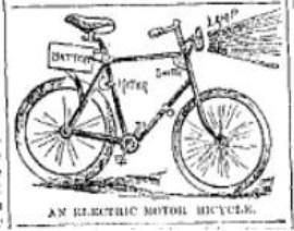 Electric Bike History, patents from the 1800's Patent32