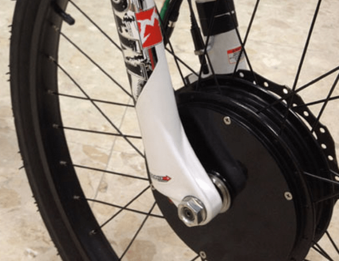 Like most modern hubs these days, the MAC allows the use of a large disc brake on the front, which is highly recommended.