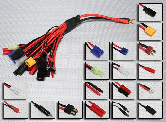 u get 6 deans style xt female plugs 12ga wire rc wire!
