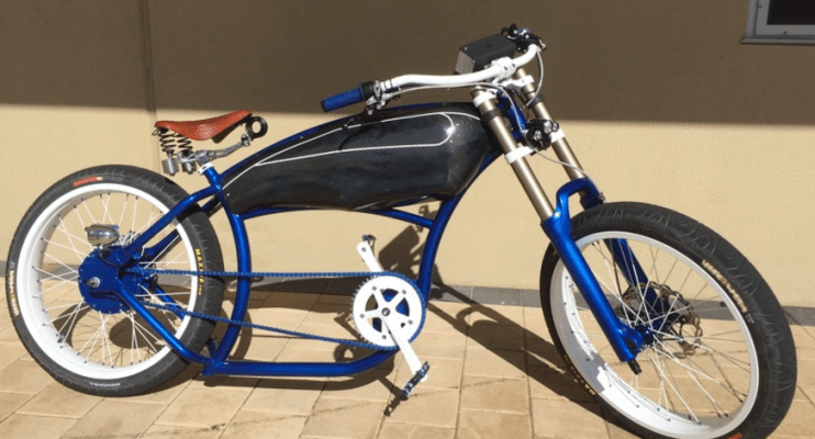 This Is A Custom Built Electric Cruiser Bicycle From