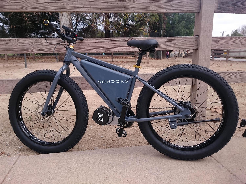 Electric Fat Bike >> Sondors Electric Fat Bike 2016 Review Electricbike Com
