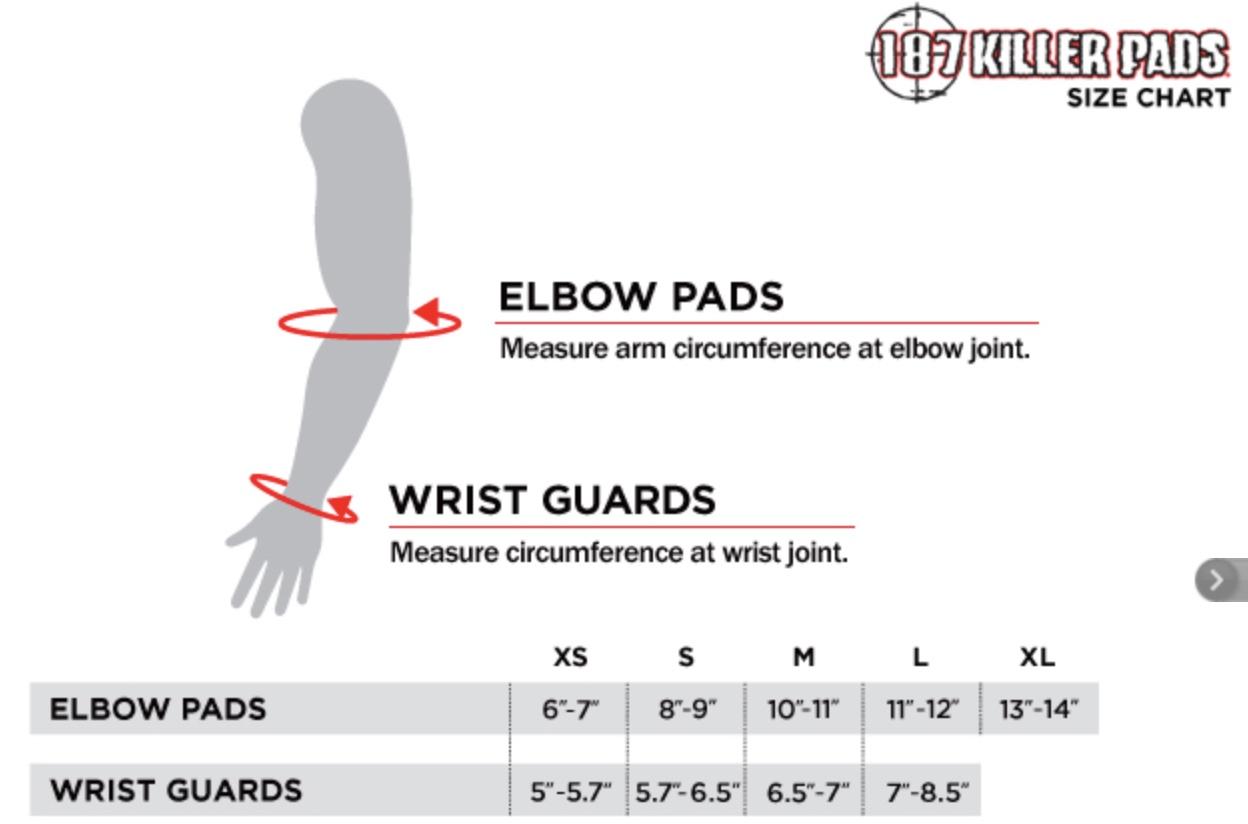 Electric Skateboard 187 Arm Sizing Chart