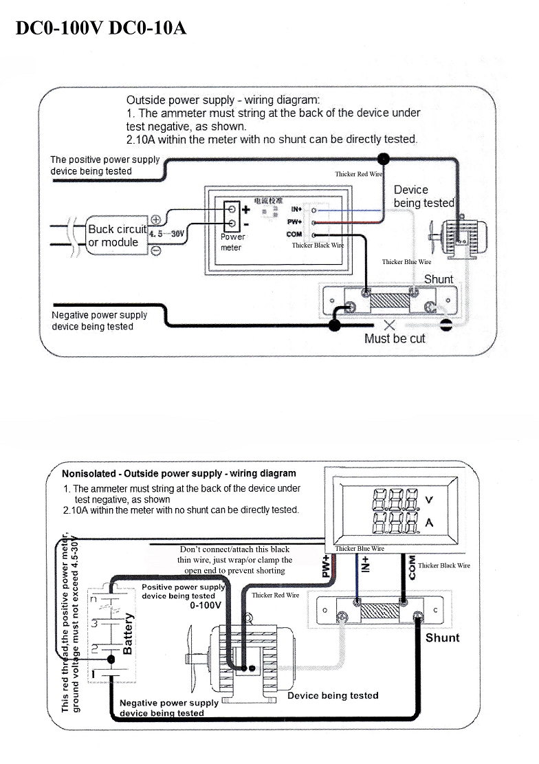 medium resolution of wiring diagram without shunt amp meter